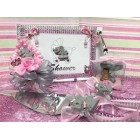 Baby Shower Elephant Guest Book & Corsage Favor Cake Decoration Cake Knife Server Set Baby Shower Baby Girl Gift