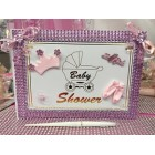 Baby Shower Guest Book It's a Girl Pink Princess Keepsake