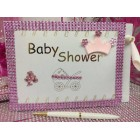 Pink Baby Shower Girl Princess Guest Book Party Favor