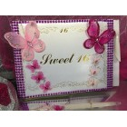 Sweet 16 Butterfly Signature Guest Book