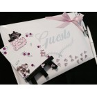 Baby Shower Guest Book It's a Girl Pink Little Feet Keepsake
