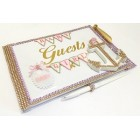 Nautical Guest Book It's a Girl Signature Book Baby Shower Keepsake Gift
