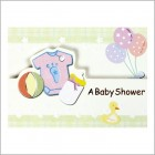 Baby Shower Clothes Glitter Invitations