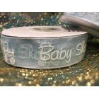 Baby Shower Boy Blue Organza Ribbon 25 Yards Roll Craft Party Supplies
