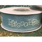 It's a Boy Blue Baby Shower Organza Ribbon 25 Yards Roll Craft Party Supplies