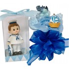 Nautical Sailor Theme Blue Baby Shower Corsage and Figurine Keepsake