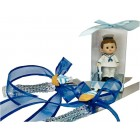 Nautical Sailor Theme Blue Baby Shower Figurine and Cake Knife Set Keepsake