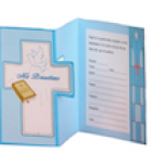 Blue Cross Mi Bautizo Spanish Baptism Invitations Invitaciones with Envelopes 10 Ct