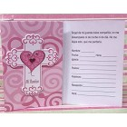 Mi Bautizo Spanish Invitations Invitaciones Pink Cross with Envelopes 10 Ct