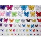 "4"" Organza Nylon Butterflies 3 Ct"