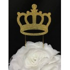 Large Gold Crown Birthday or Anniversary Cake Topper