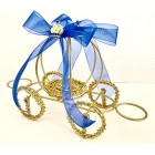 Large Gold Metal Wire Pumpkin Carriage Centerpiece For Birthday Parties Sweet 16 Weddings Prince Princess Theme
