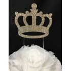 Large Silver Crown Birthday or Anniversary Cake Topper