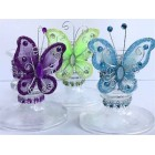 12 Butterfly Plastic Candle Holder Favor Souvenir Party Supplies