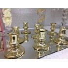Gold Plastic Acrylic Candle Holders for Taper Candles 12 Ct