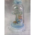 Angel Boy with Cross in Dome Figurine