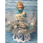 Christening Baby Boy or Girl with Angel Baptism Cake Topper Centerpiece