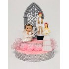 Christening Cake Topper Centerpiece for Girl Decoration