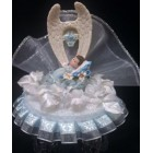 Angel wings Boy Christening Keepsake Cake Topper