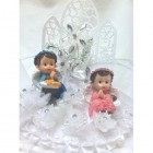 Christening Angel Cake Topper for Twins