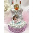 Christening Dove Baby Cake Topper
