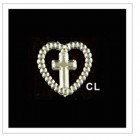 Cross with Heart Acrylic Embellishments