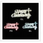 Happy Christening Acrylic Embellishments