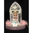 Christening Communion Girl Cake Topper