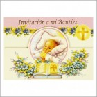 Baby Girl Bautizo Glitter Invitation 12 Ct