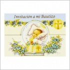 Baby Boy Bautizo Glitter Invitation 12 Ct