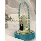 First Communion Boy with Church Back Cake Topper Centerpiece