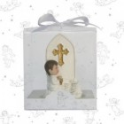 Boy Praying By Church Window Favors