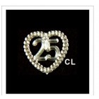 25 Anniversary or Birthday Acrylic Embellishments 48 Ct