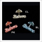 Shower with Umbrella Acrylic Embellishments 48 Ct