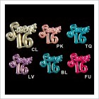 Sweet 16 Acrylic Embellishments 48 Ct