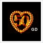 50 Anniversary or Birthday Acrylic Embellishments 48 Ct