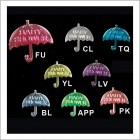 Umbrella Acrylic Embellishment Decoration For Baby Shower 48 Ct