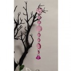 "10.50"" Crystal Acrylic Garland Decoration- Hot Pink"
