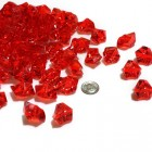 Acrylic Crystal Red Stone Ice Rocks Table Scatter Party Supply Decoration