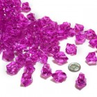 Acrylic Crystal Fuchsia Stone Ice Rocks Table Scatter Party Supply Decoration