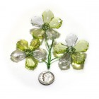 Acrylic Crystal Flower Decoration- Apple Green
