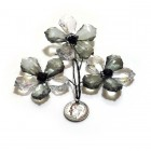 Acrylic Crystal Flower Decoration- Black