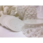 White Plastic Cake Base Flower Rose Theme Cake Topper Party Supplies 6 Ct