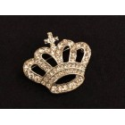Silver Crystal Crown Brooch Charm for Cake Tops Corsage Favor Scrapbooking