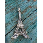 Rhinestone Eiffel Tower Charm for Cake Tops Corsage Favor Scrap Booking