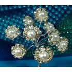 Acrylic Pearl Stem Flower Bouquets 4 Ct