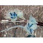 4 Blue Sheer Flower Stems All Purpose Craft Flower Baby Shower Birthday or Wedding