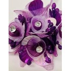 Purple and White Rhinstone Craft Flowers DIY Projects 8 Bunch For Wedding Birthday Sweet 16 Party Supplies