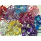 Organza Flower Bunch with Rhinestone 72 Ct