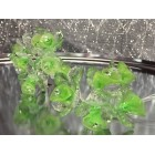 2 Acrylic Green Flower Bunches 6 Flowers Per Bunch 12 Flowers Weddings Sweet 16 or Bridal Shower